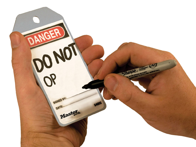 rewritable safety tag