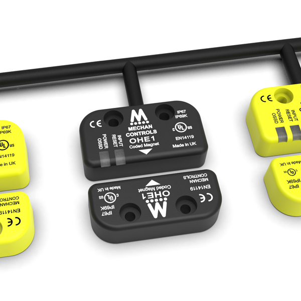Mechan O-Type safety sensor in series with OSSD contacts